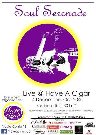 Concert Soul Serenade la Have A Cigar