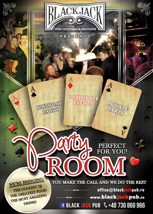 Noul Party Room powered by Black Jack Pub
