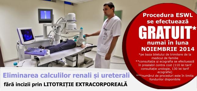 Eliminarea calculilor renali – gratuita la un spital privat