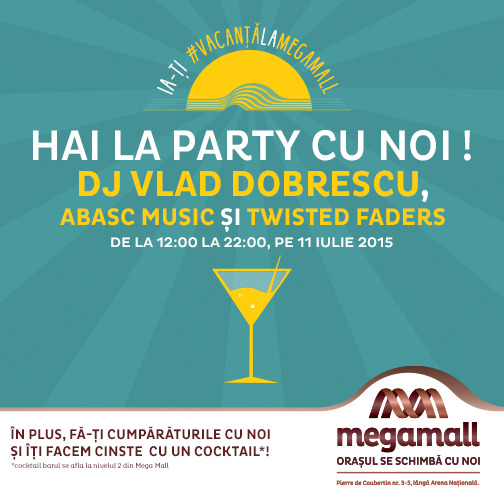 Mega Mall te invita in weekend la party!