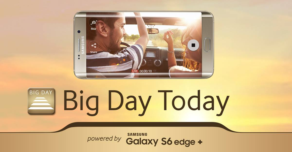 Samsung a lansat aplicatia Big Day Today powered by Galaxy S6 edge+