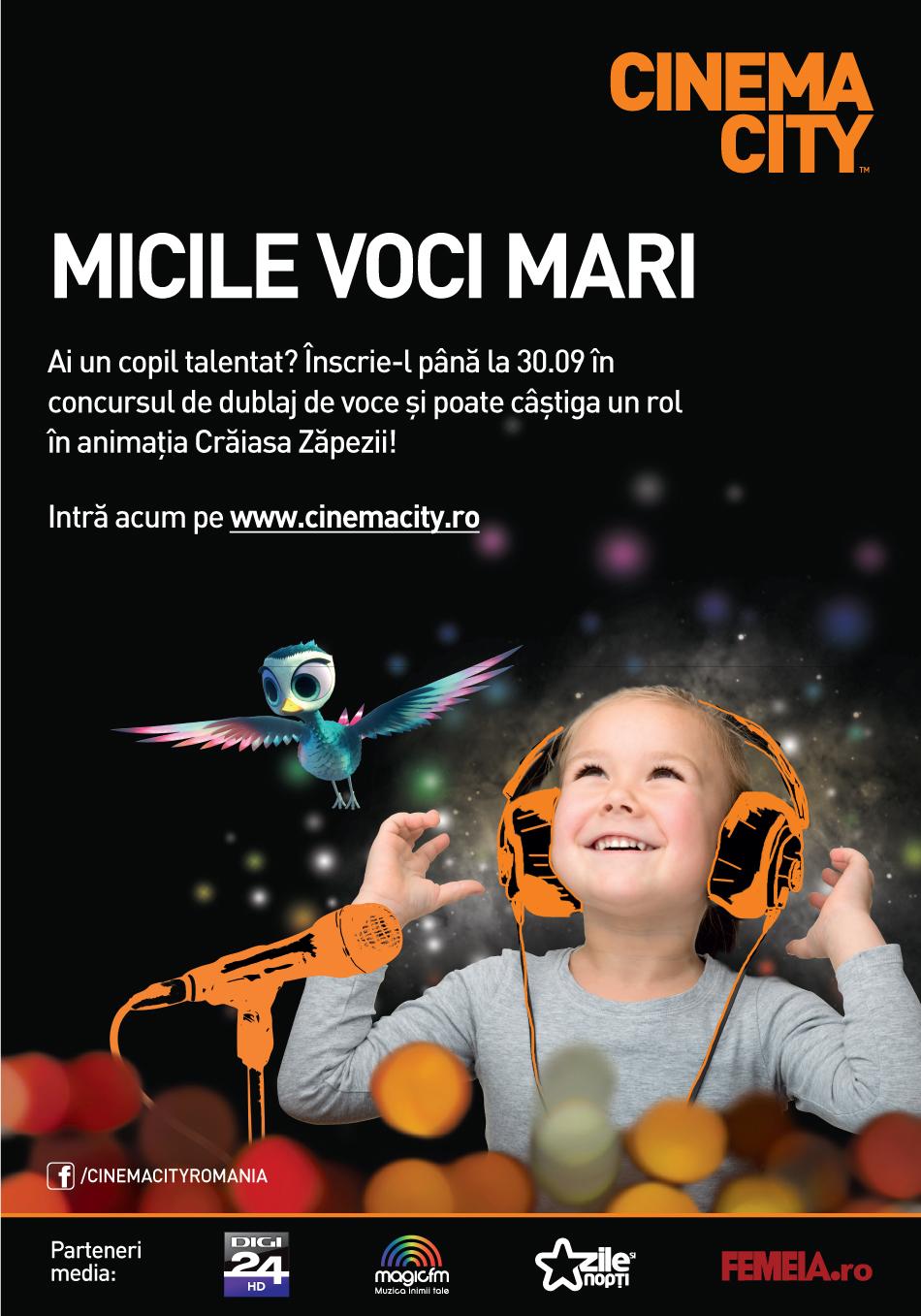 Copilul tau poate ajunge vedeta cu Cinema City