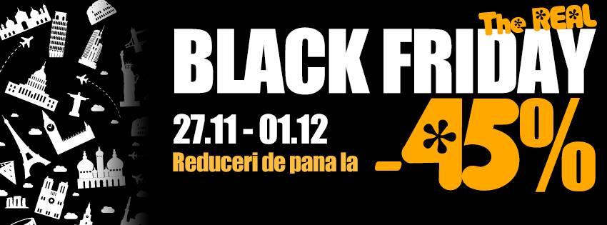 The Real Black Friday la Paralela 45: cele mai mari reduceri la ofertele Early Booking
