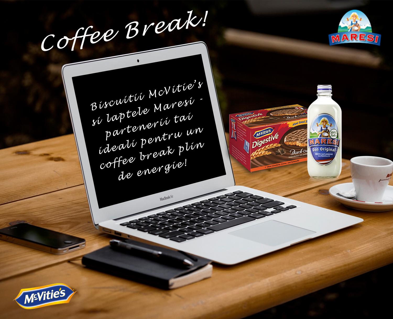 Biscuitii McVitie`s si laptele Maresi-partenerii tai ideali pentru un coffee break plin de energie