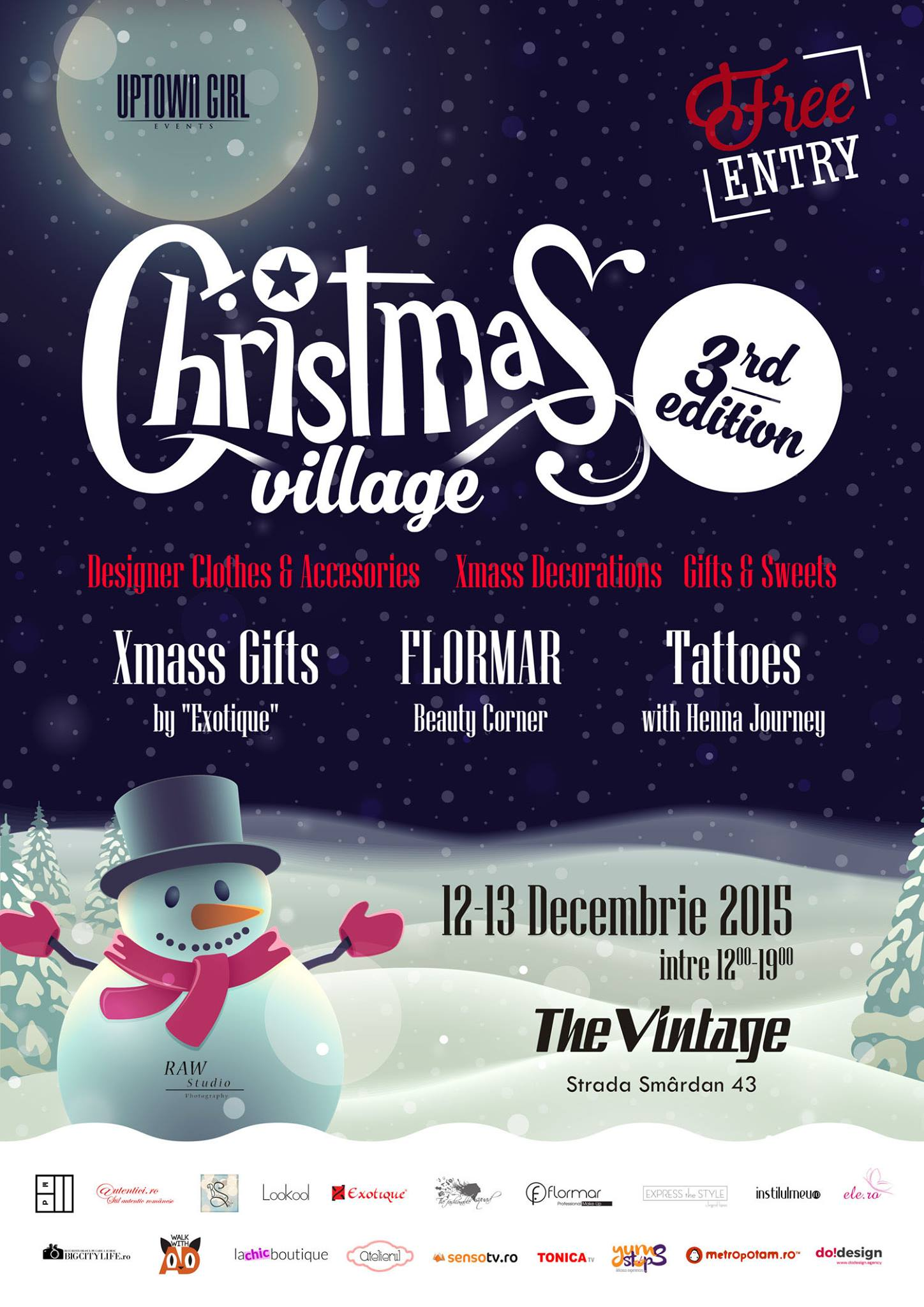 Uptown Girl revine cu a 3-a editie de Christmas Village