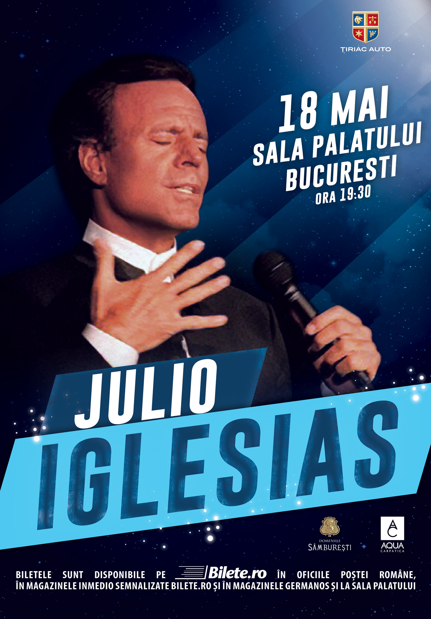 Julio Iglesias revine in Bucuresti pe 18 Mai