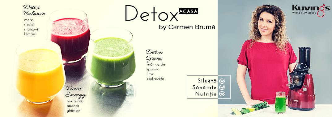 Carmen lanseaza o campanie DETOX. Acasa