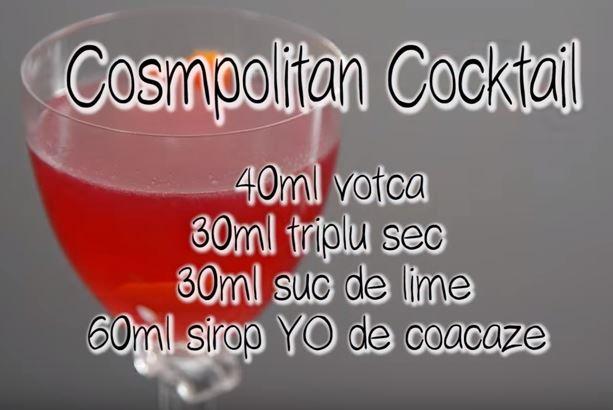 Momente pentru femeia inteligentă și sofisticată din tine! Bucură-te de un cocktail YO Cosmopolitan!