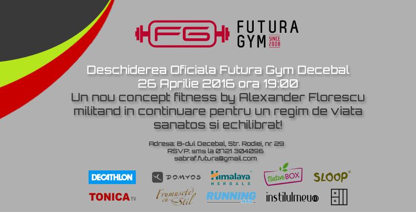 Deschiderea unui nou sediu Futura Gym in centrul capitalei