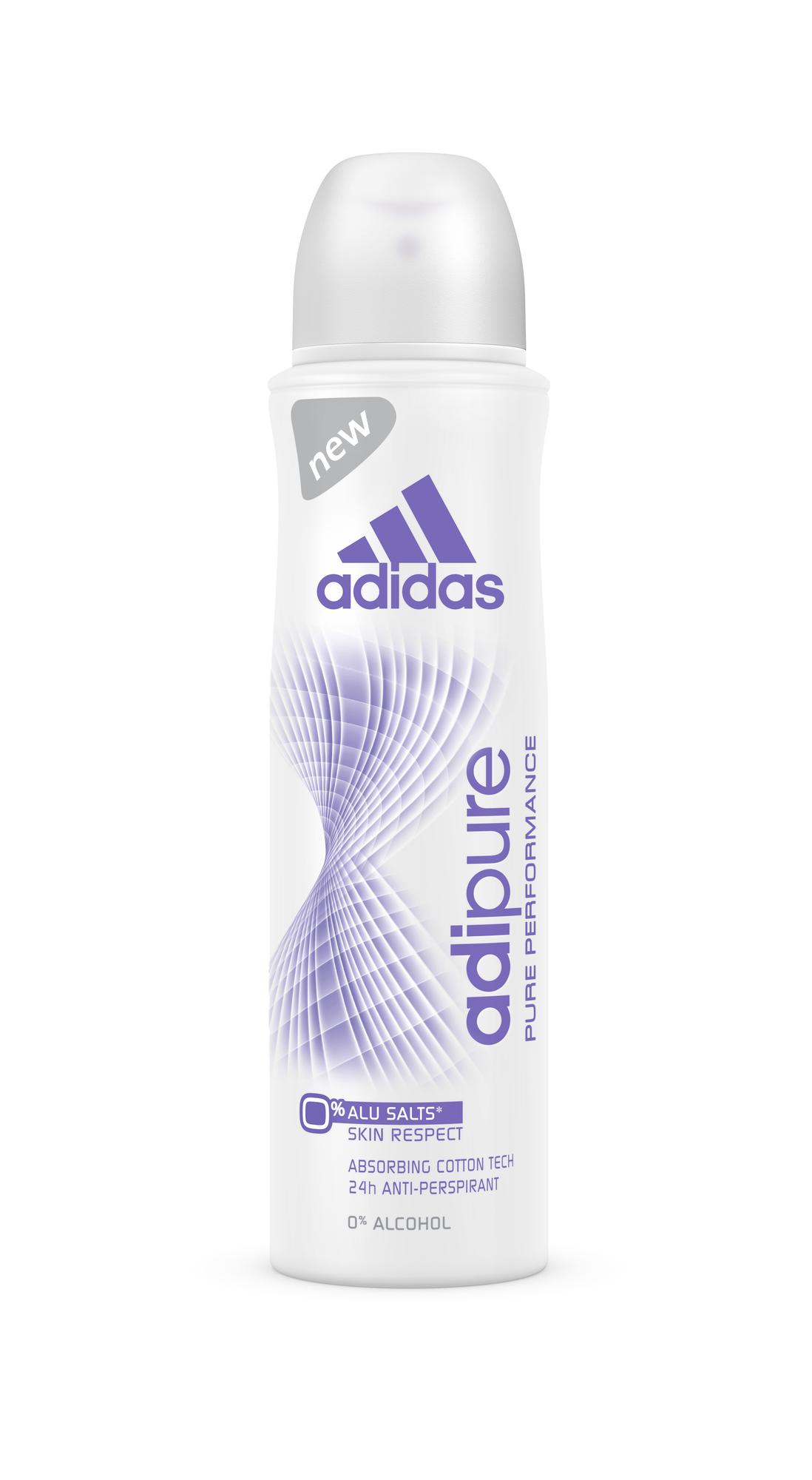 Brandul adidas lanseaza adipure, antiperspirantul care are grija de pielea ta