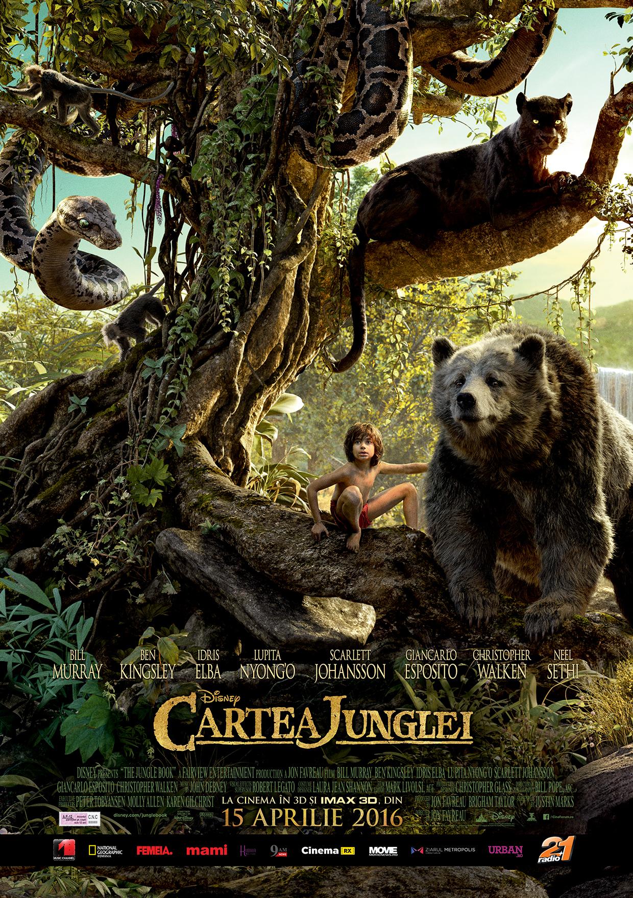 """Află ce voci celebre dau viaţă legendarelor personaje din ,,Cartea Junglei"""""""
