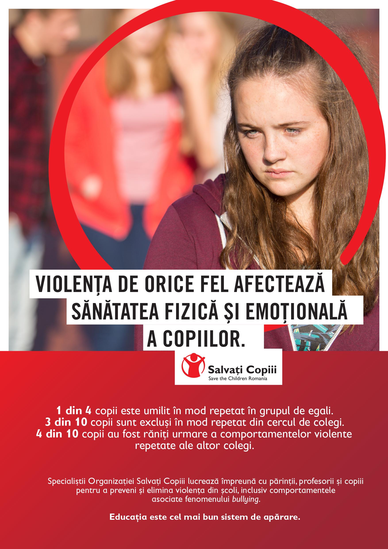 Salvați copiii România: Violența între copii atinge un nivel îngrijorător