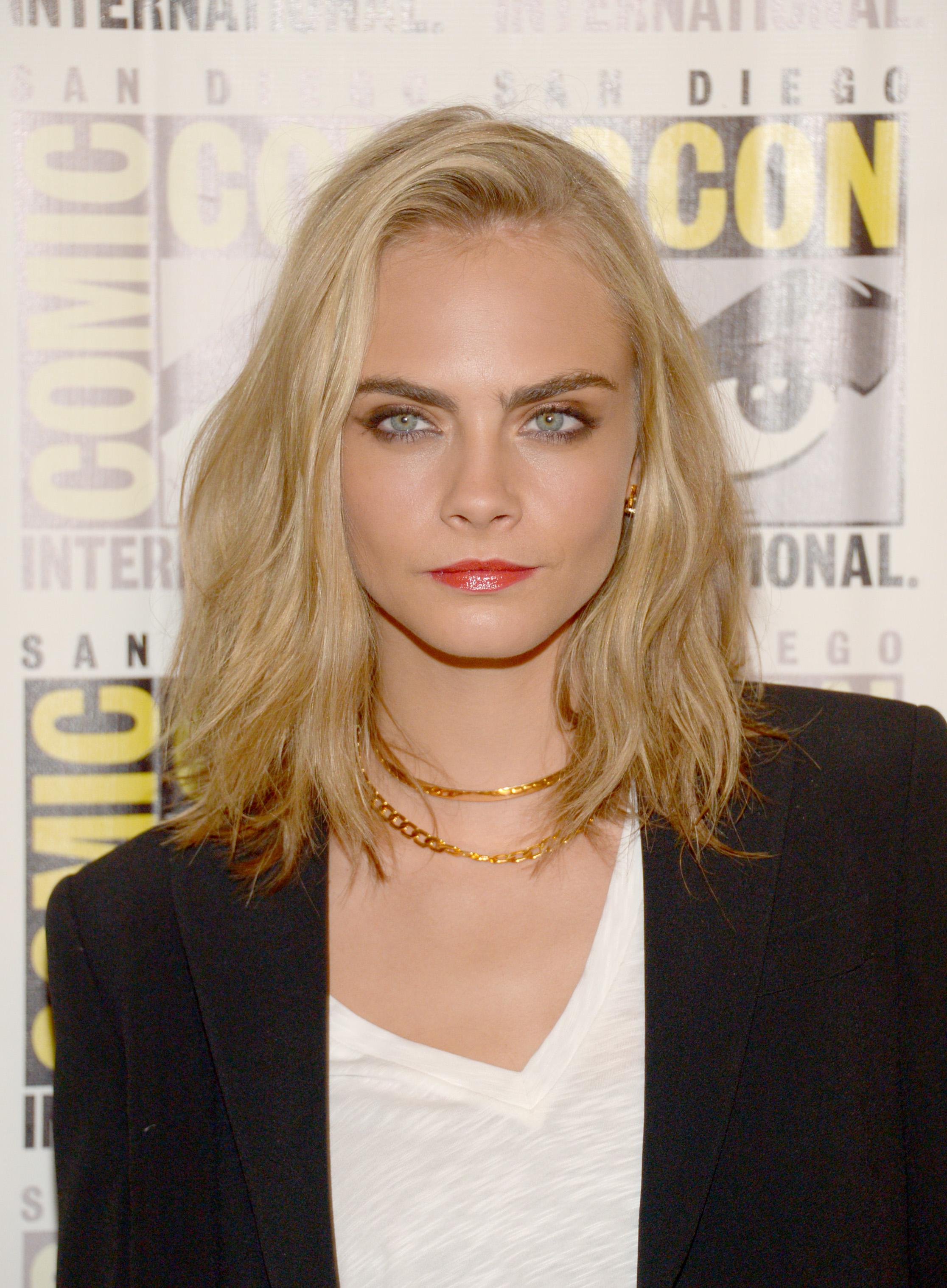 Summer make-up idea: Cara Delevingne la premiera Suicide Squad @ComicCon