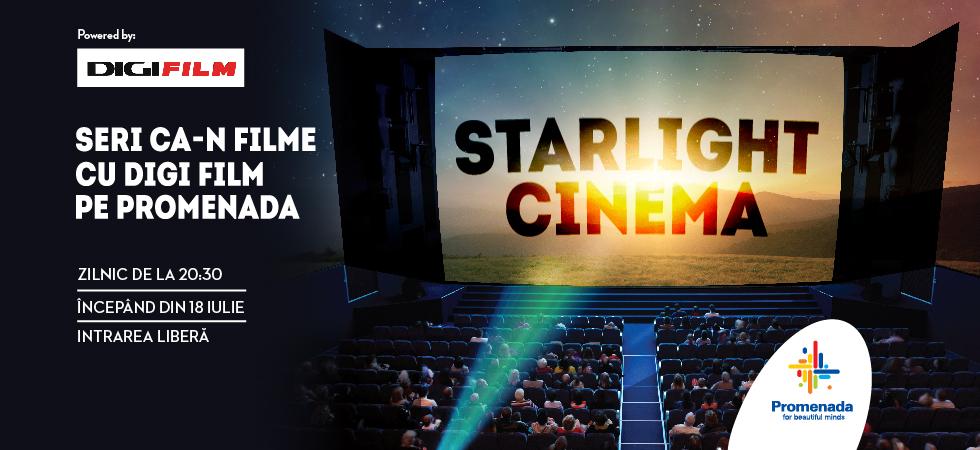 Proiectii gratuite de filme pe terasa Promenada Mall