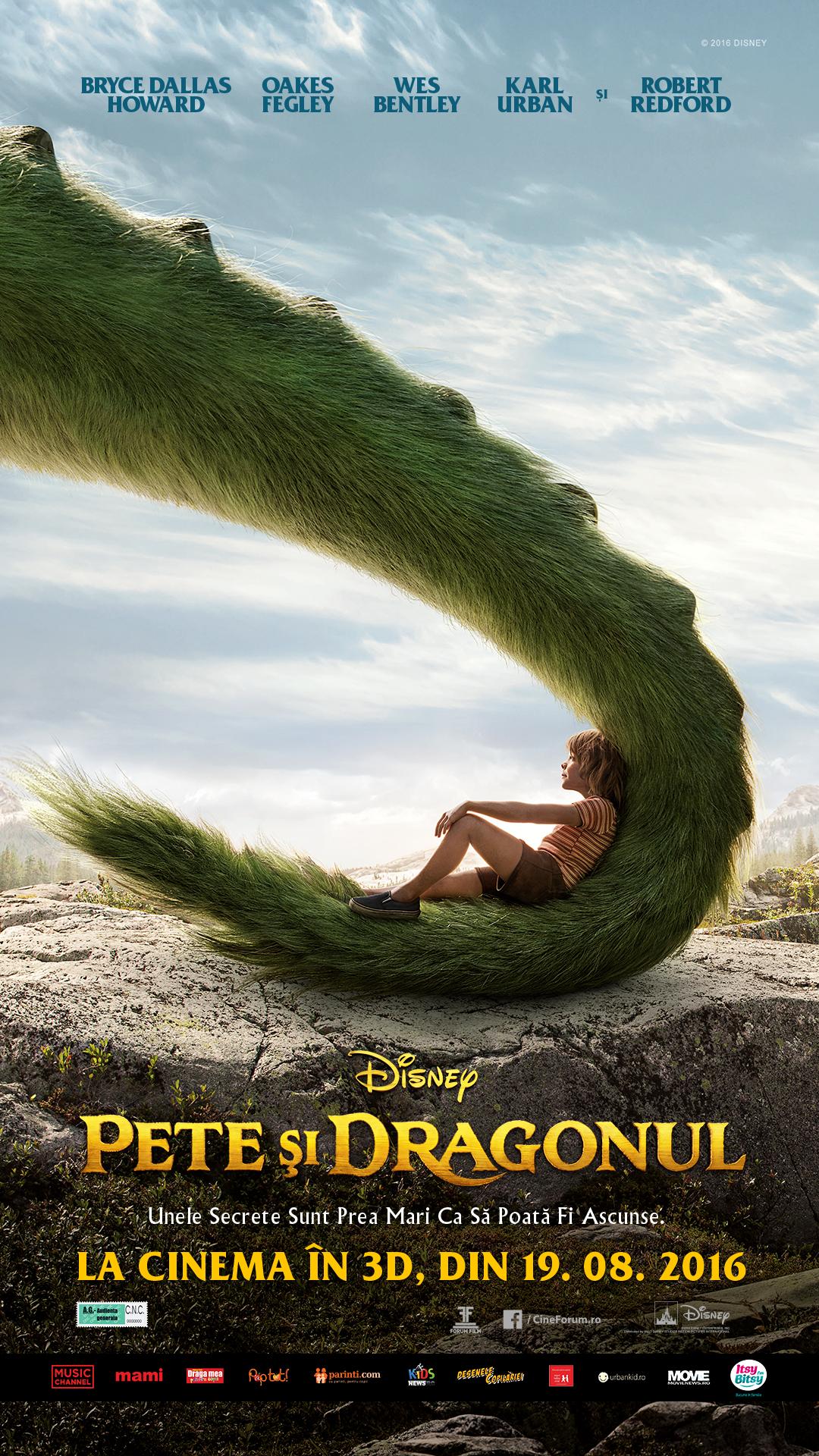 """""""Pete şi dragonul"""", o poveste fantastică despre o prietenie simplă"""