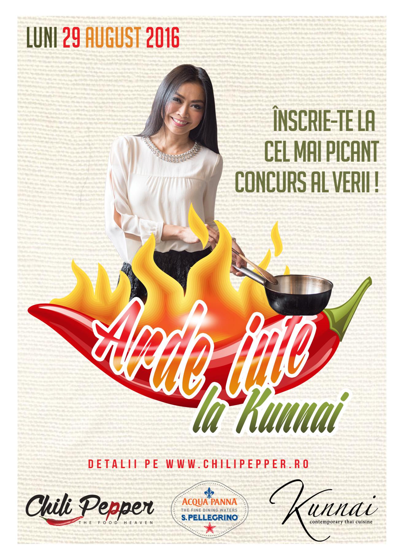 Primul concurs de mâncat picant din România:  Arde Iute la Kunnai