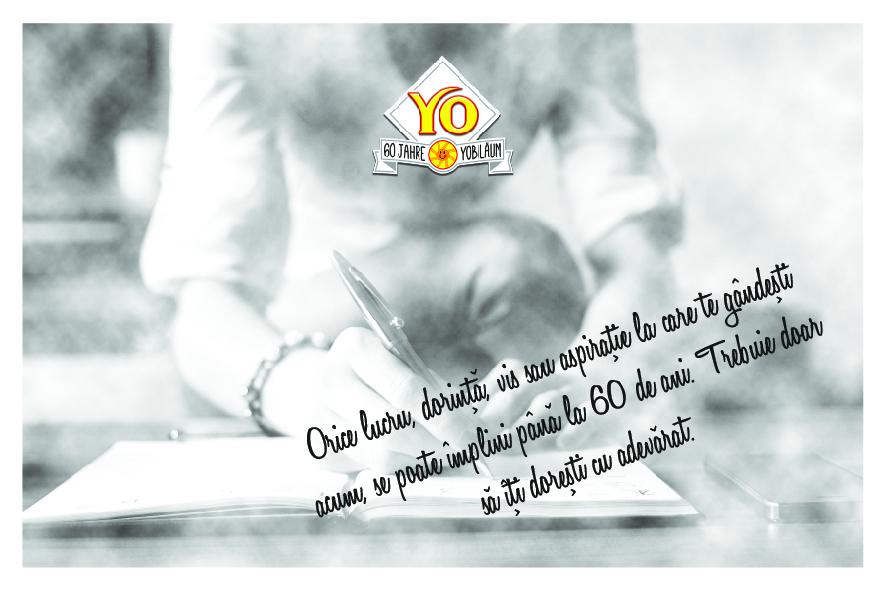 """YO Sirop de fructe lansează campania """"60 de ani de experiențe"""""""