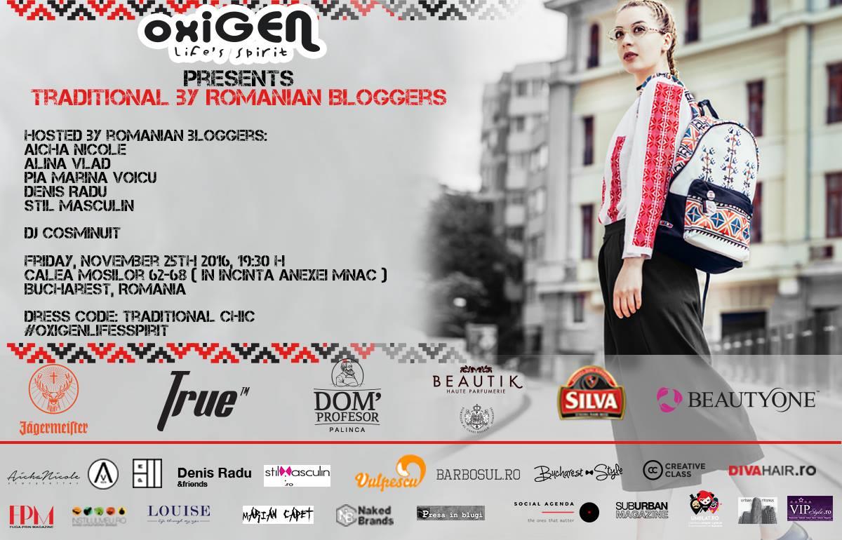 """Oxigen prezinta vernisajul proiectului """"Traditional by Romanian Bloggers"""""""