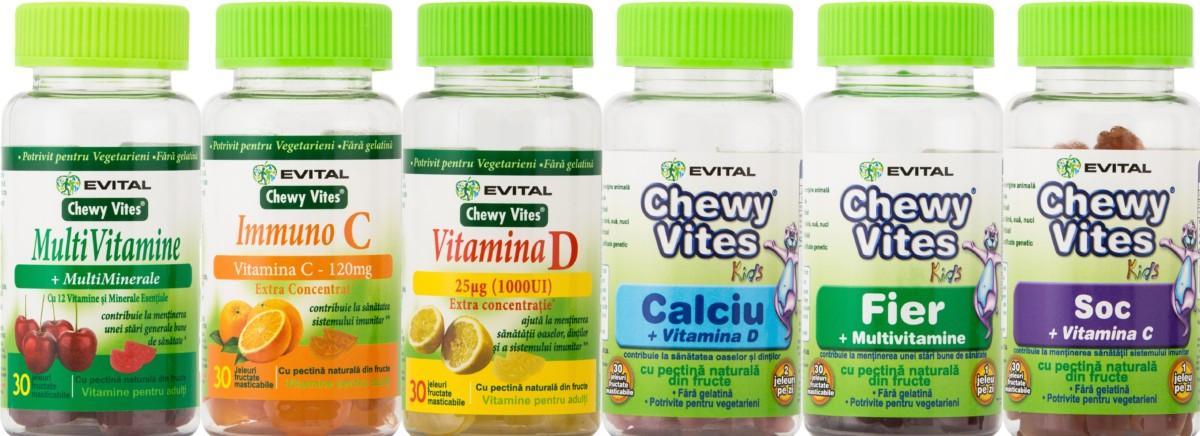 Evital te invita sa te bucuri de viata cu noile vitamine Chewy Vites
