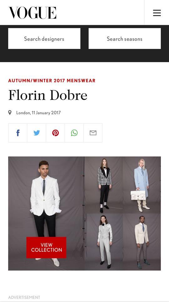 Mr.Mister by Florin Dobre noua colectie  A/W 2017 prezentata la Londra