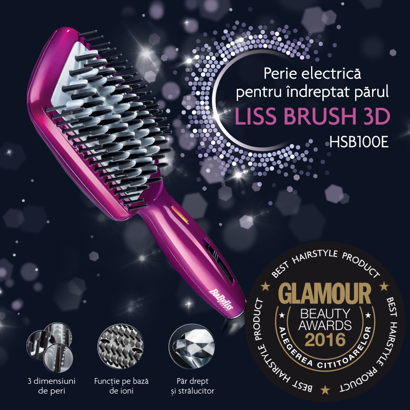 Liss Brush 3D a castigat premiul pentru categoria Best Hairstyle Product din cadrul GLAMOUR Beauty Awards