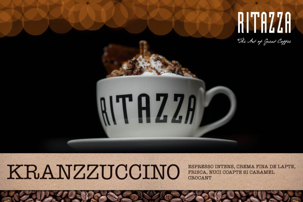 Caffé Ritazza România lansează Kranzzuccino – un amestec crocant de cafea, nuci coapte și foițe de caramel în ediție limitată