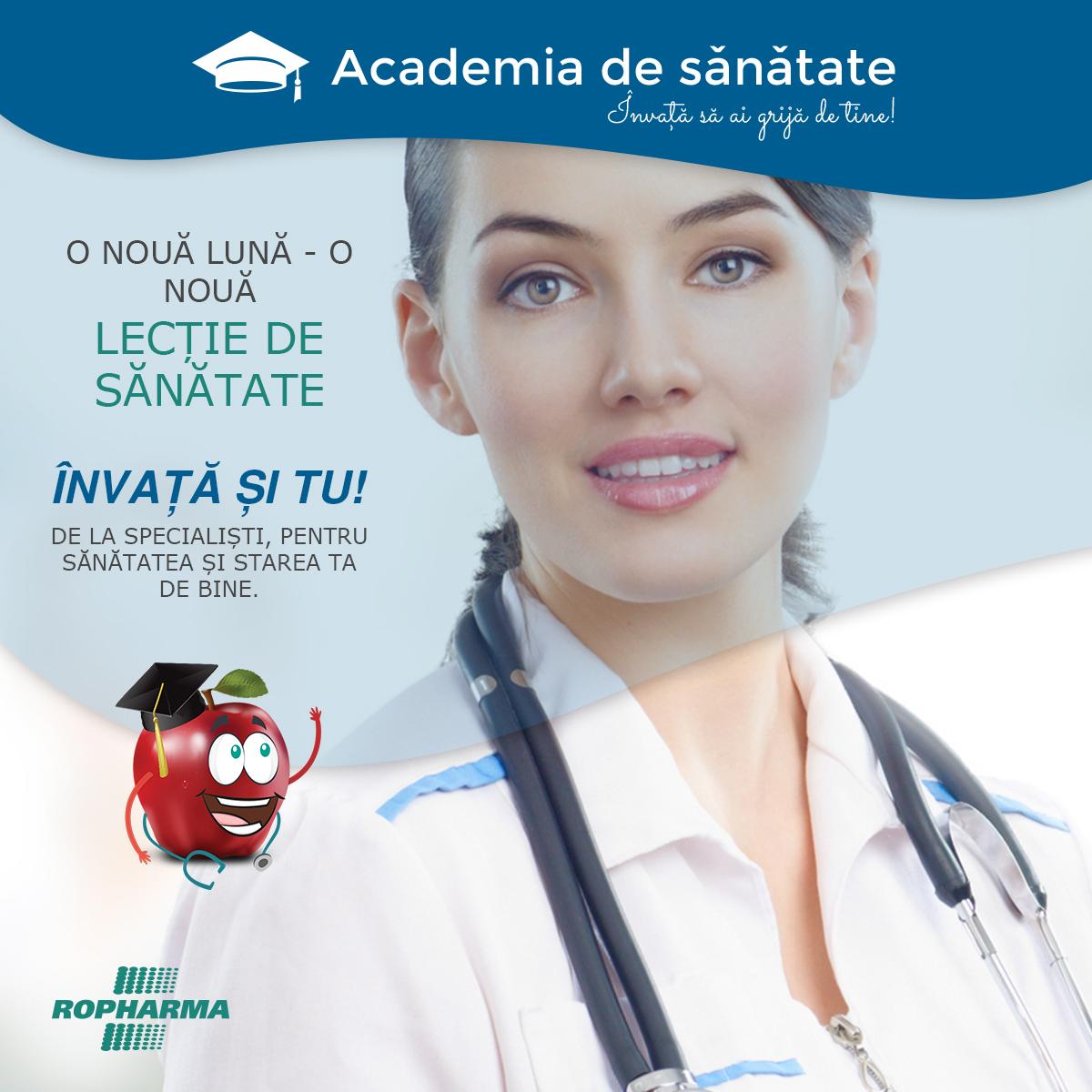 Academia de Sănătate Ropharma – un nou concept de informare, prevenție și tratament