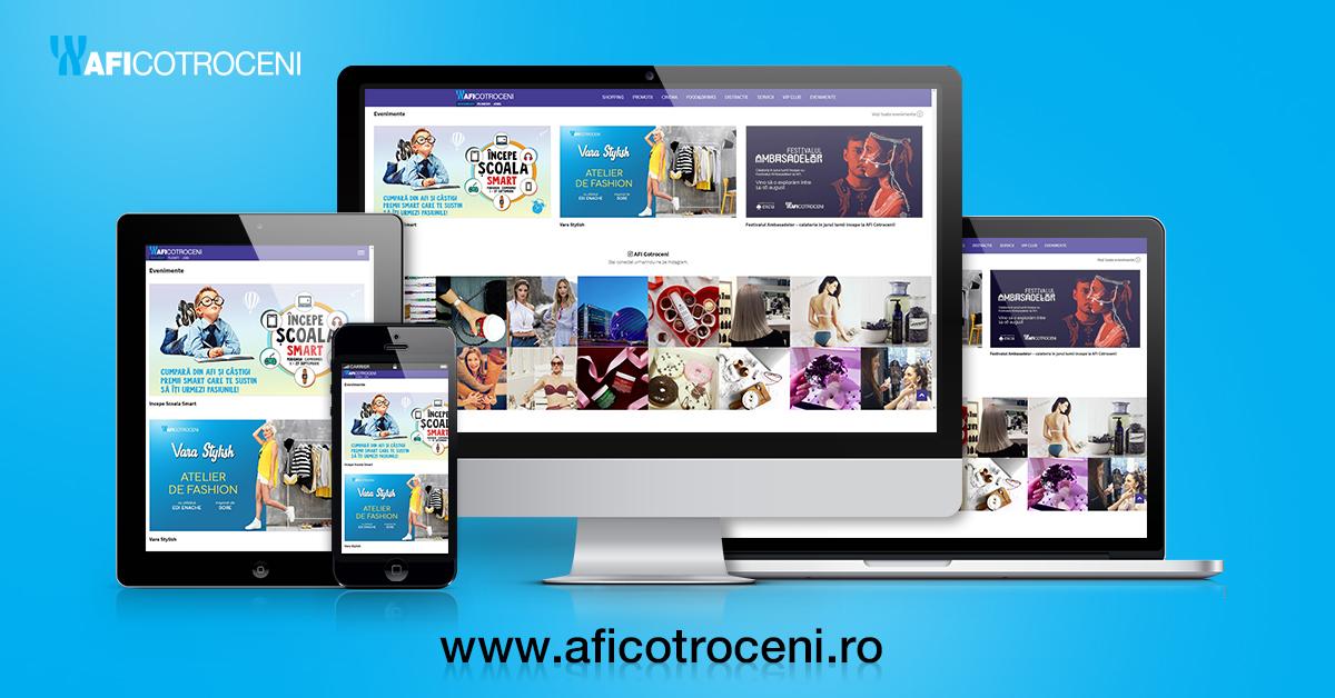 Noul site AFI Cotroceni – o experiență online completă pentru clienți
