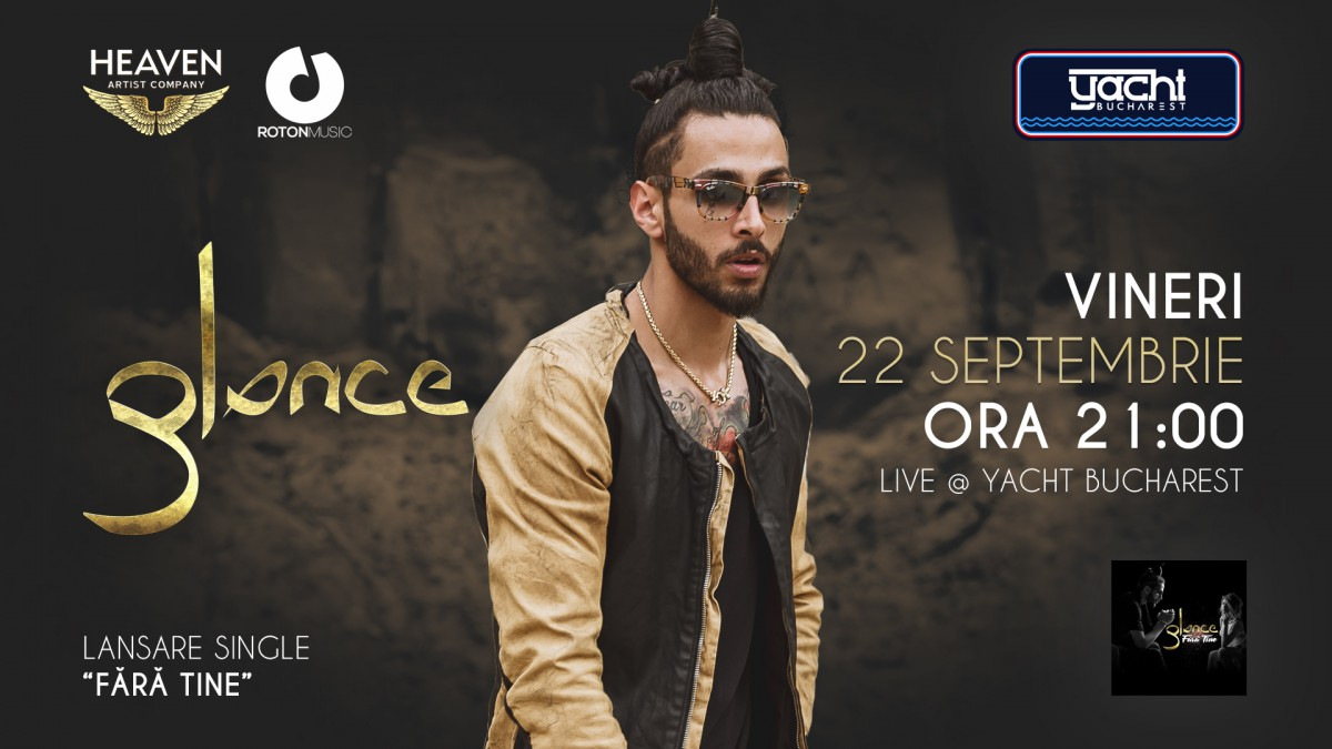 Concert Glance – lansare single nou @Yacht Bucharest