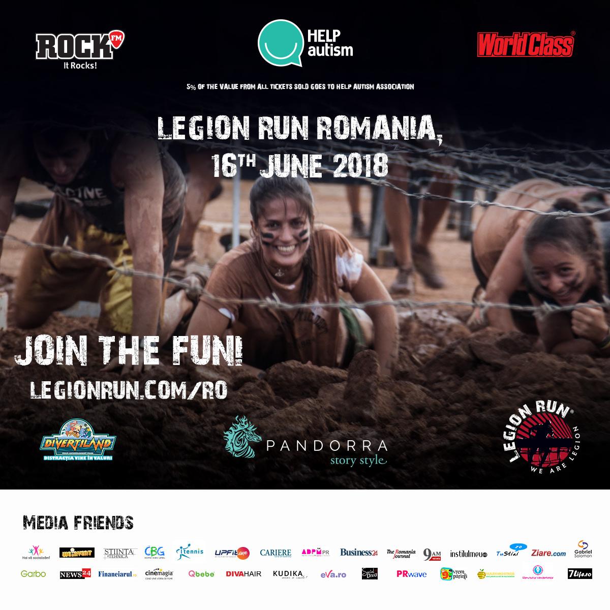 Ajuta copiii cu autism participând la Legion Run