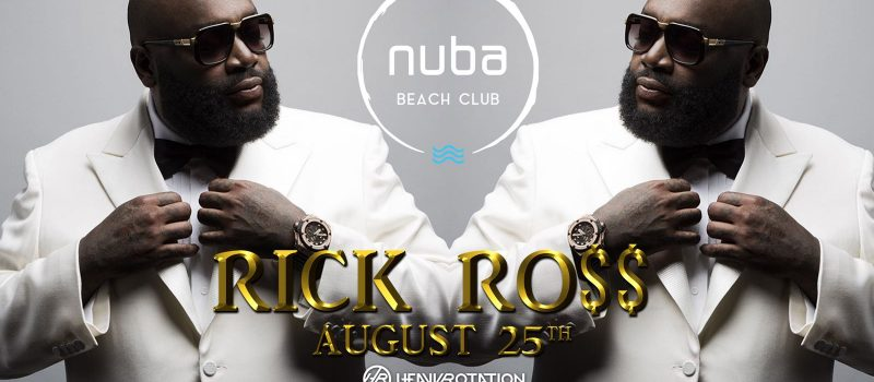 Rick Ross pe scena NUBA Beach Club