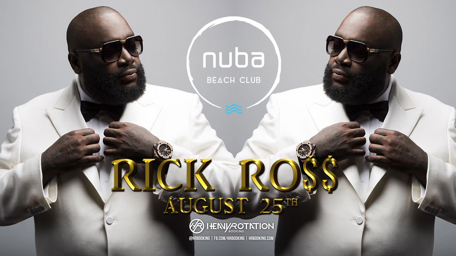 Rick Ross pe scena NUBA Beach Club