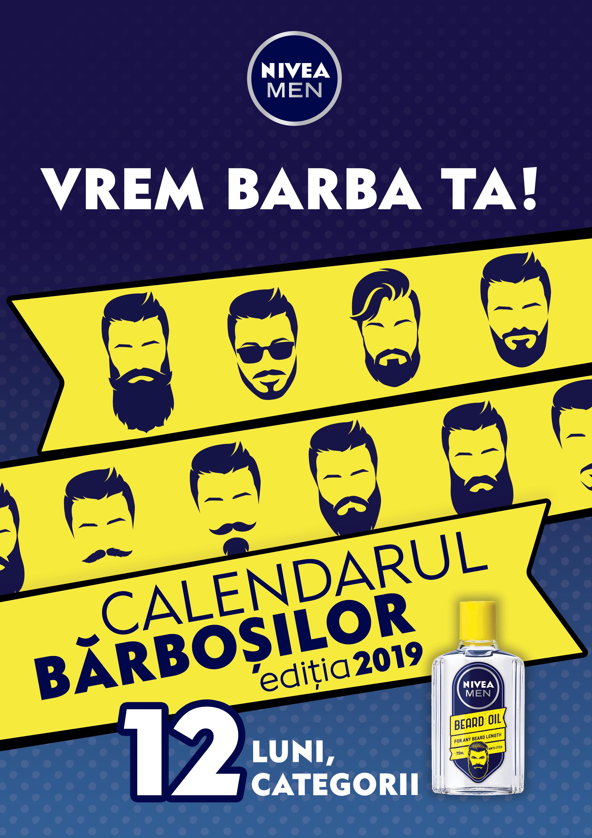 NIVEA MEN pregătește Calendarul Bărboșilor, ediția 2019!
