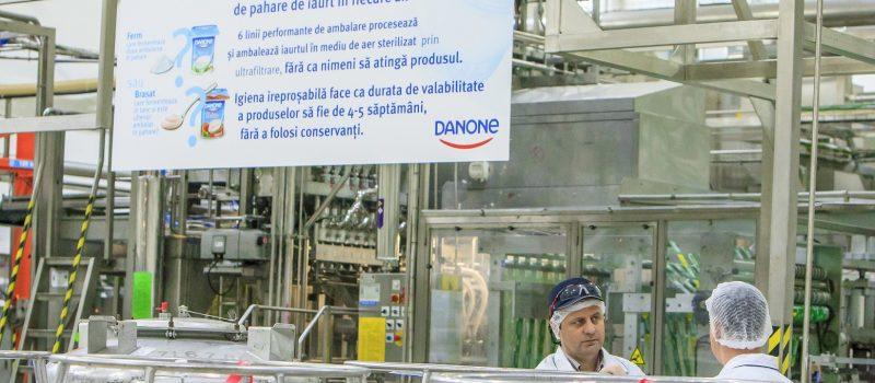 Danone a deschis porțile fabricii de iaurt într-un eveniment  dedicat publicului larg