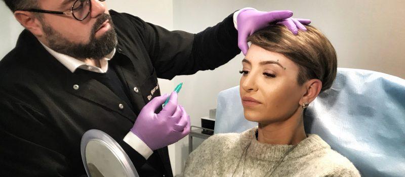 Giulia Anghelescu a început anul cu botox și acid hialuronic în sprâncene pentru a alunga urmele oboselii!