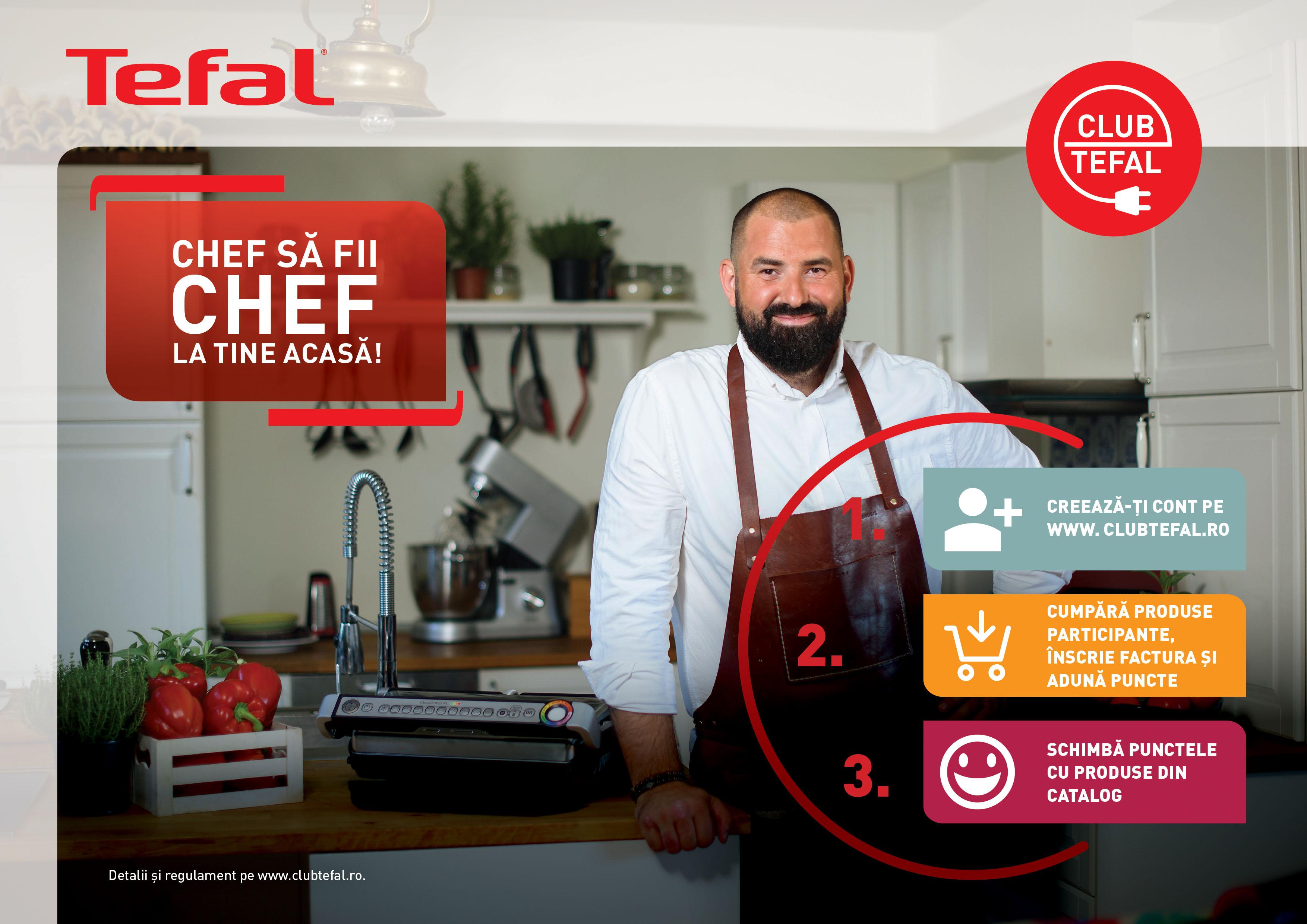 Inscrie-te in Club Tefal, acumuleaza puncte si alege-ti produsele din catalog
