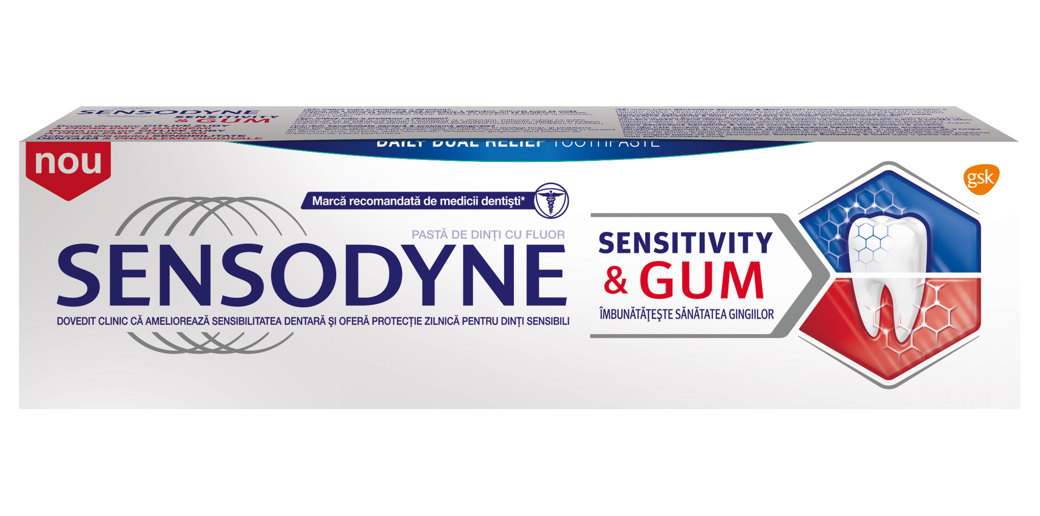 Inovaţie Sensodyne – noua pastă de dinţi Sensitivity & Gum