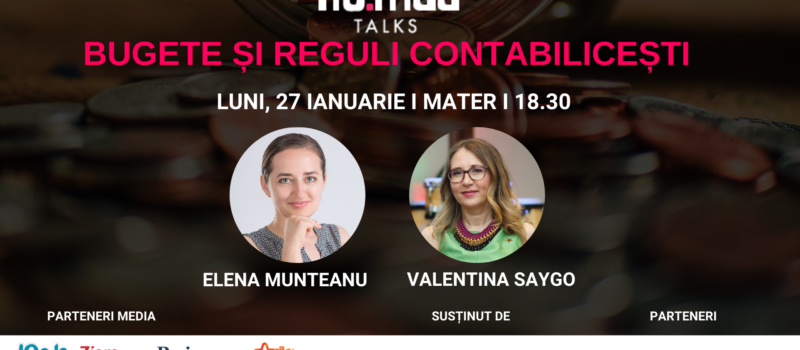 Pe 27 ianuarie la NO.MAD Talks se discută noutățile contabile pentru freelanceri