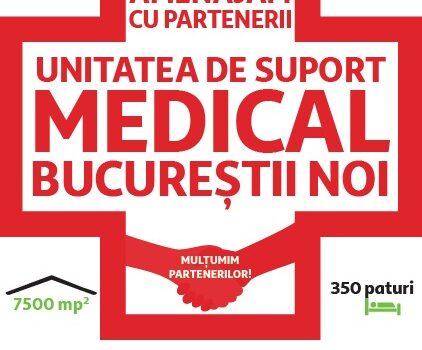 Asociația Zi de Bine se alătură Auchan și Leroy Merlin în proiectul de amenajare a unității de suport medical din Capitală