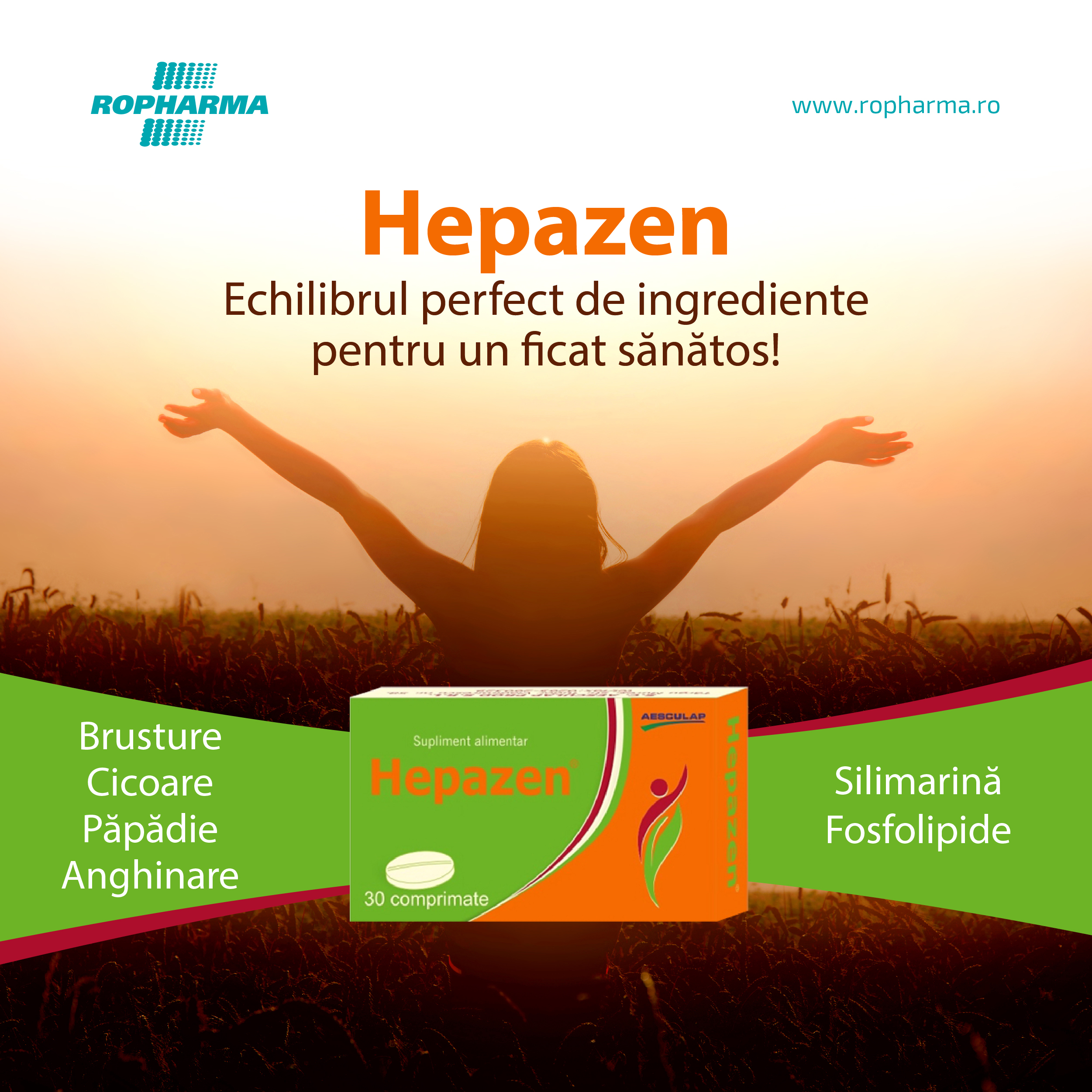 Hepazen – Echilibrul perfect de ingrediente pentru un ficat sănătos!